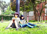 teens outside by Bill Bonner