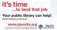 NJ Works - it's time to land that job your public library can help