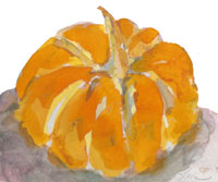 pumpkin watercolor by Leora