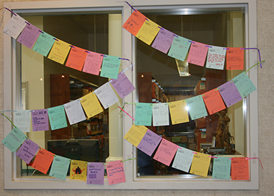 gratitude project in Highland Park Public Library