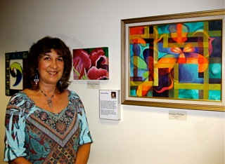 Shelley Phillips with painting