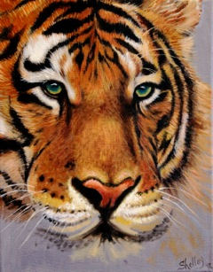 Shelley Phillips Tiger Painting
