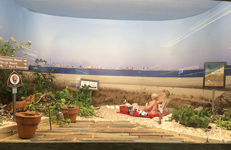 Beach in a box, diorama by Mary Forsberg