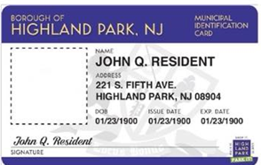 Highland Park Municipal ID card