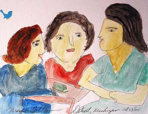Maria Gillan painting