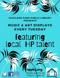 Featuring local musical and artistic talent on Facebook every Tuesday