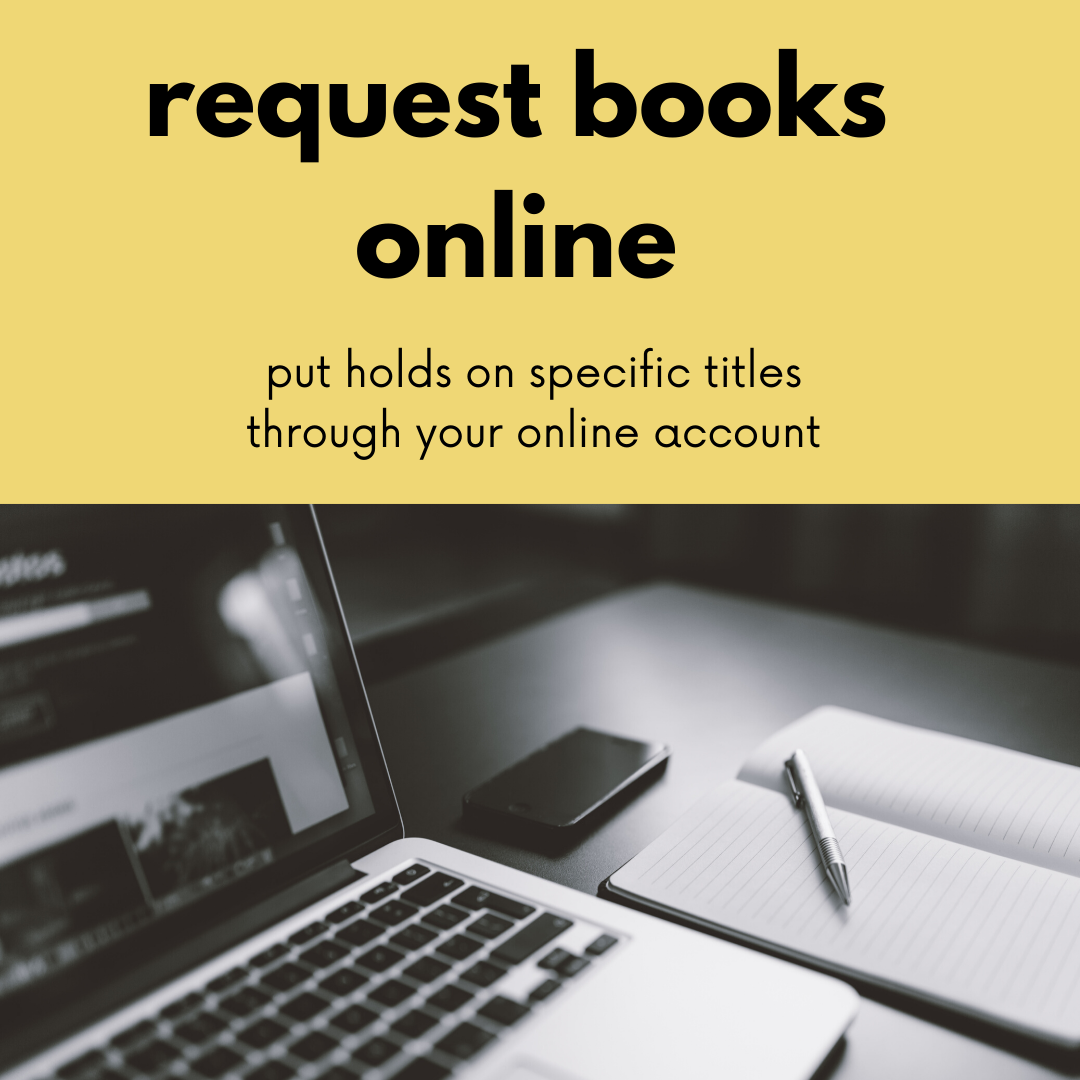 Link to catalog to request library materials